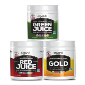 Organifi Green, Red and Gold Juice - Combo worth Buying